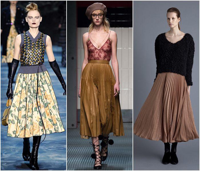 Модные юбки осень-зима 2 15-2 16: луки из последних