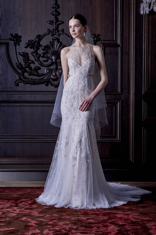 Свадебные платья с вышивкой и аппликациями 2015-2016 Monique Lhuillier