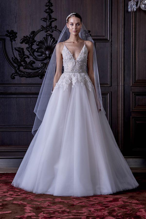 Свадебные платья А-силуэта 2015-2016  Monique Lhuillier