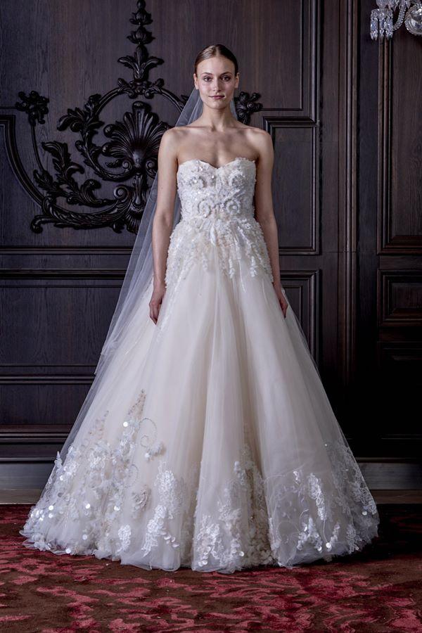 Свадебные платья бюстье 2015-2016  Monique Lhuillier