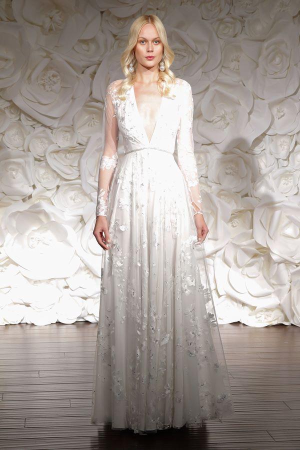 Свадебные платья с длинным рукавом 2015-2016 Naeem Khan