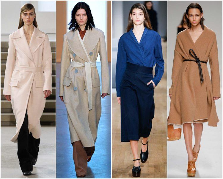 Мода осень-зима 2015-2016: одежда с запахом