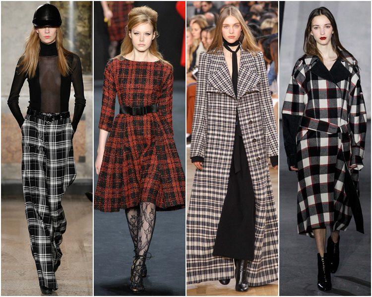 Мода осень-зима 2015-2016: одежда в клетку