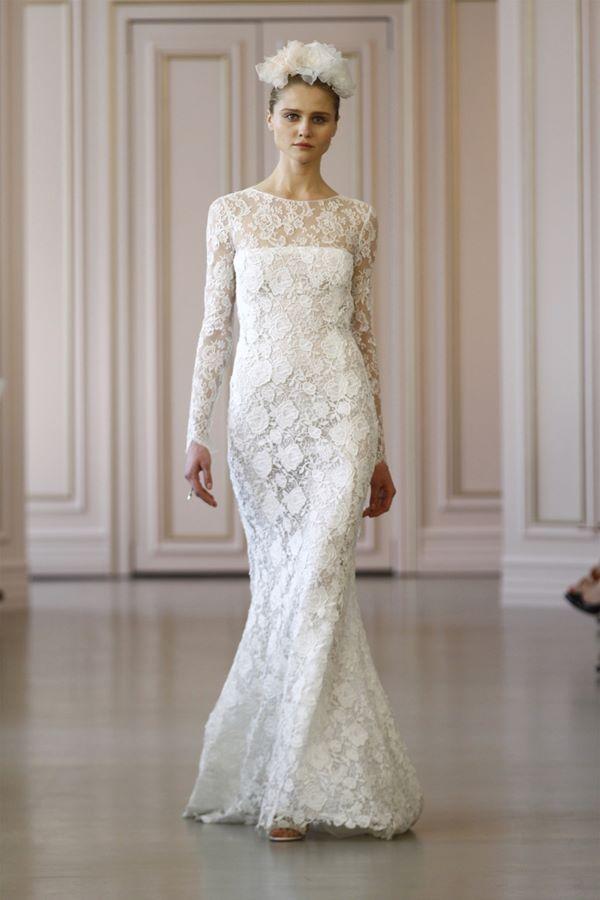 Кружевные свадебные платья 2015-2016 Oscar de la Renta