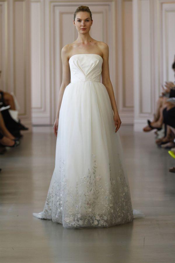 Свадебные платья бюстье 2015-2016 Oscar de la Renta