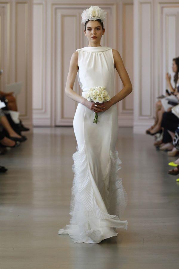 Свадебные платья в греческом стиле 2015-2016 Oscar de la Renta