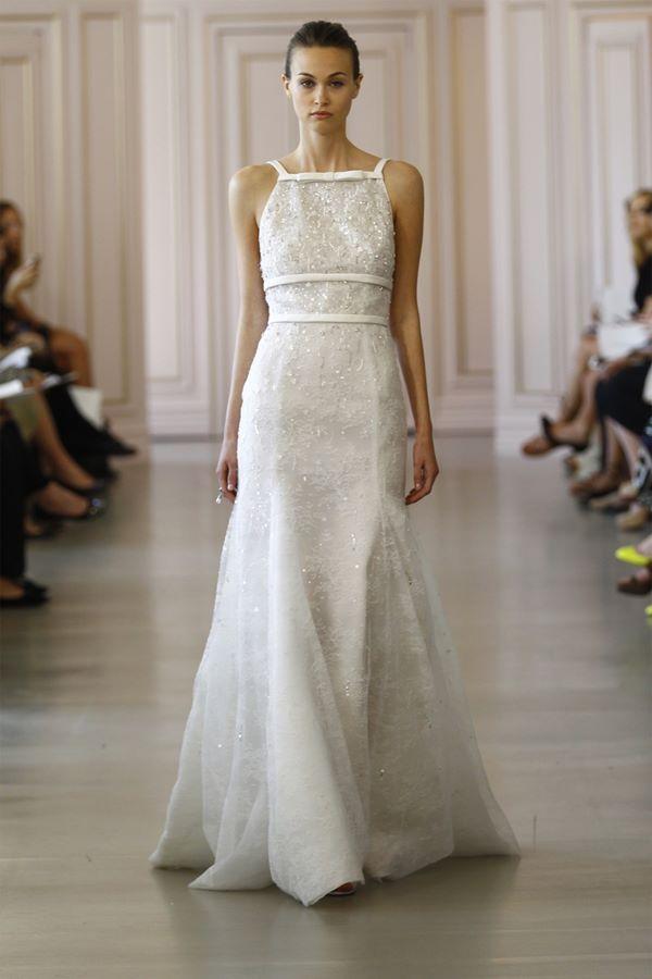 Свадебные платья с кристаллами и бусинами 2015-2016 Oscar de la Renta