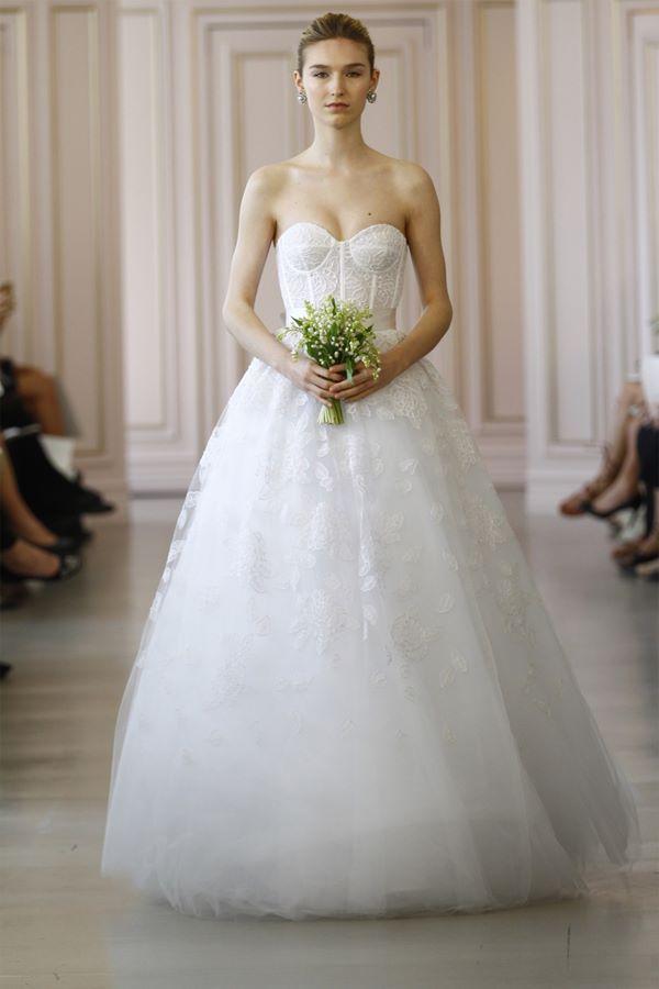 Свадебные платья А-силуэта 2015-2016  Oscar de la Renta