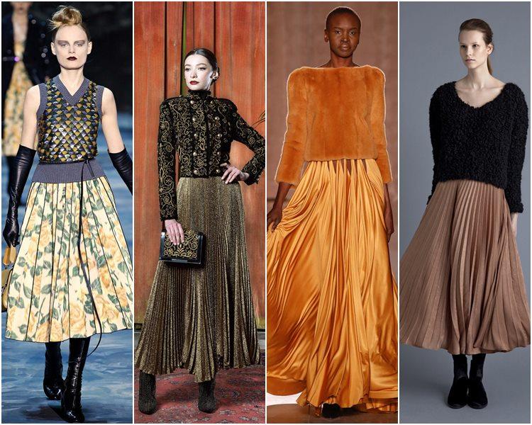 Мода осень-зима 2015-2016: плиссированные юбки