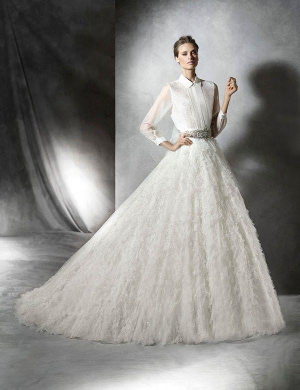 Свадебные платья с длинным рукавом 2015-2016 Pronovias