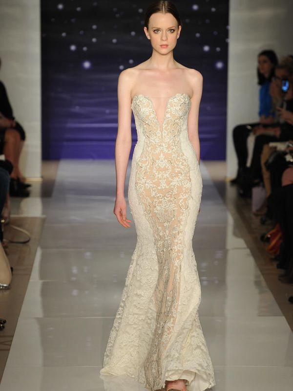 Свадебные платья с вышивкой и аппликациями 2015-2016 Reem Acra