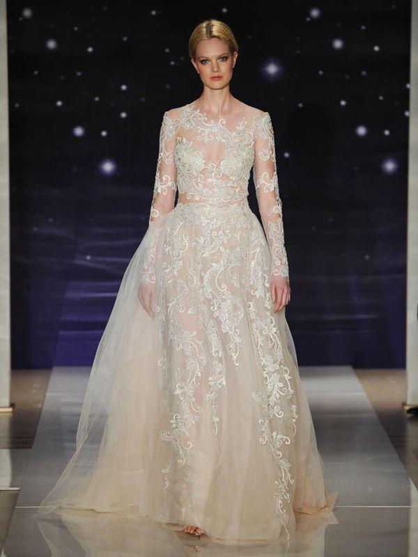 Свадебные платья с длинным рукавом 2015-2016 Reem Acra