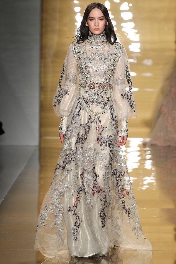 Вечерние платья А-силуэта осень-зима 2015-2016 Reem Acra
