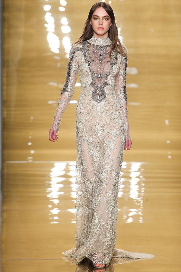 Кружевные платья осень-зима 2015-2016 Reem Acra