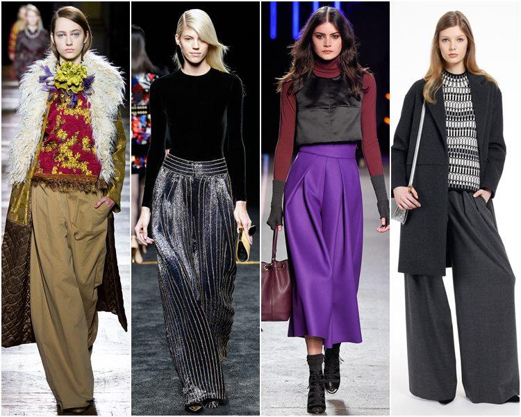 Мода осень-зима 2015-2016: широкие брюки