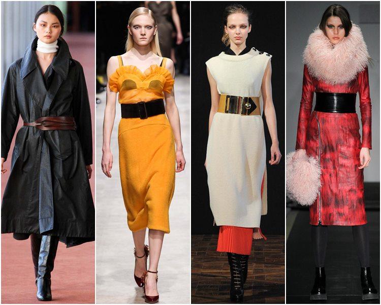 Мода осень-зима 2015-2016: широкие ремни
