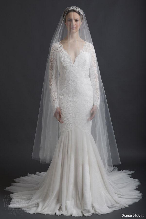Свадебные платья с длинным рукавом 2015-2016 Sareh Nouri