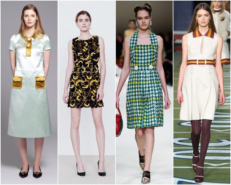Мода осень-зима 2015-2016: стиль 60-х