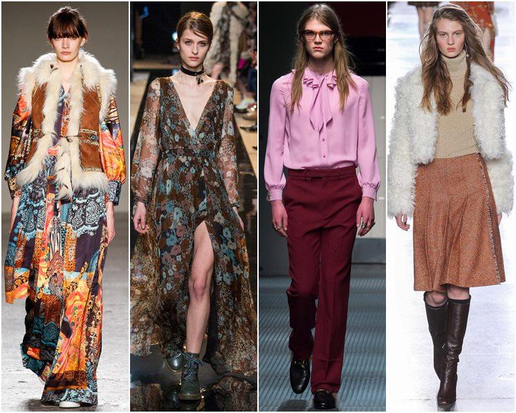 Мода осень-зима 2015-2016: стиль 70-х