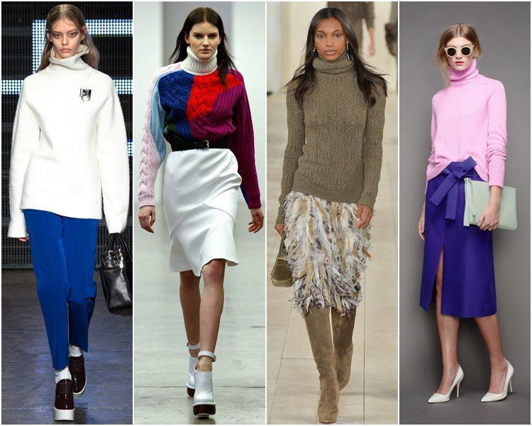 Мода осень-зима 2015-2016: свитера с высоким горлом