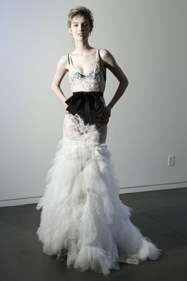 Черно-белые свадебные платья 2015-2016 Vera Wang