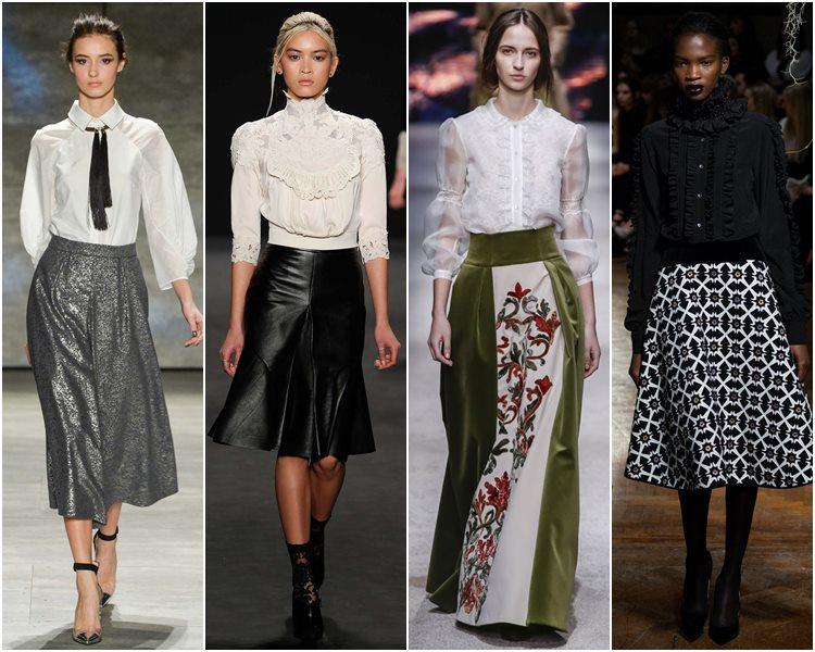 Викторианские блузки осень-зима 2015-2016