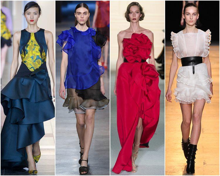 Мода осень-зима 2015-2016: воланы, оборки