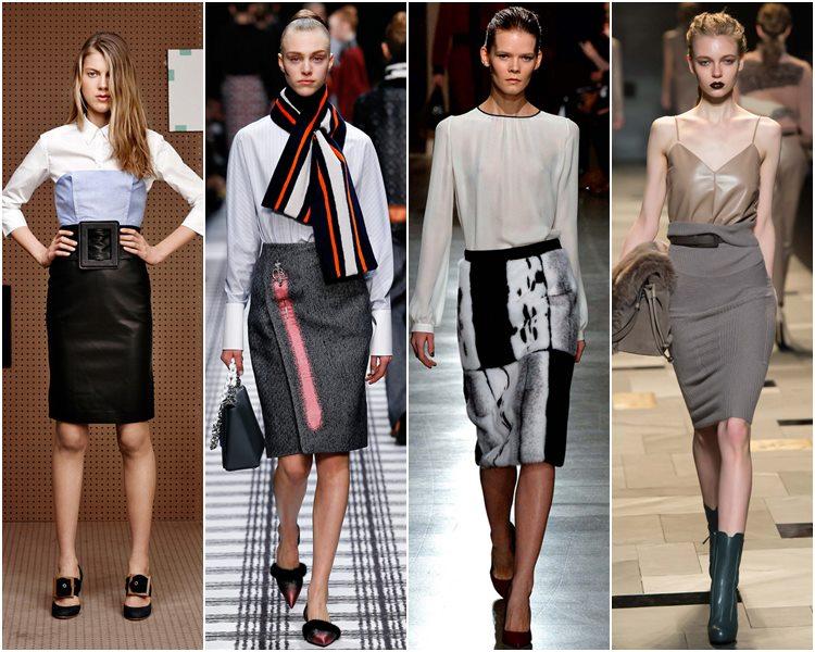 Мода осень-зима 2015-2016: юбка-карандаш