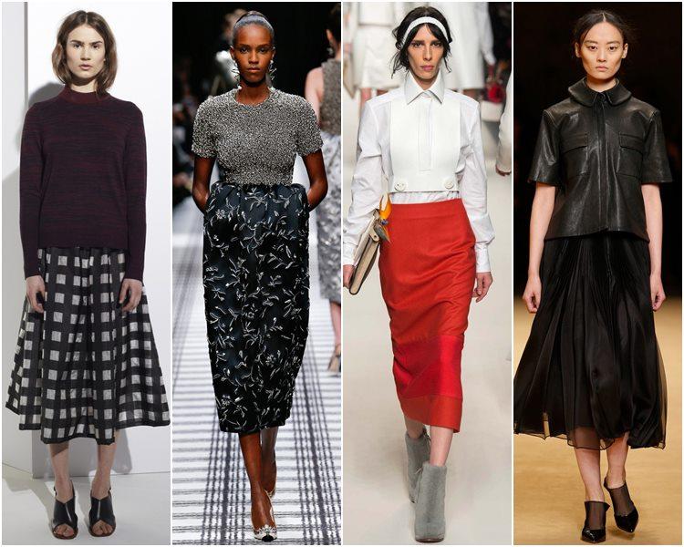Мода осень-зима 2015-2016: юбки-миди