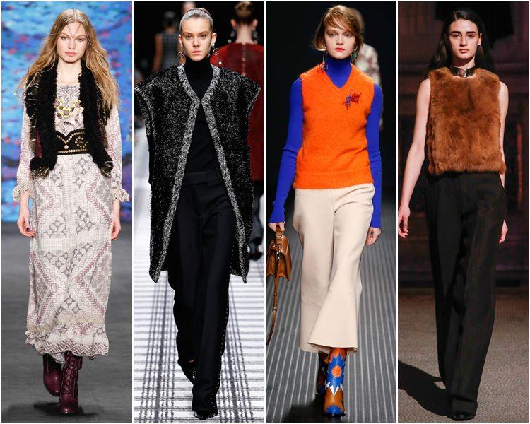 Мода осень-зима 2015-2016: жилеты и безрукавки