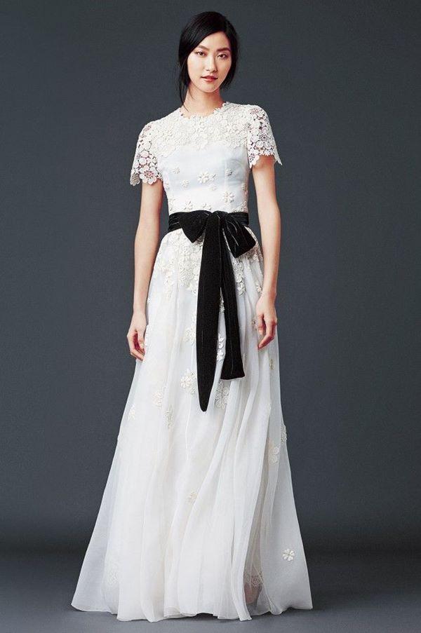Черно-белые свадебные платья 2015-2016 Dolce&Gabbana