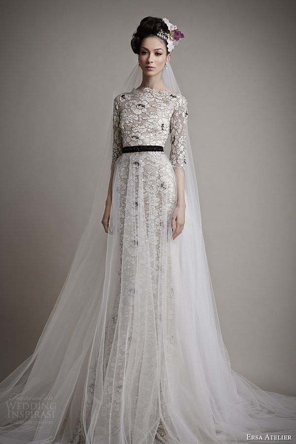 Черно-белые свадебные платья 2015-2016 Ersa Atelier