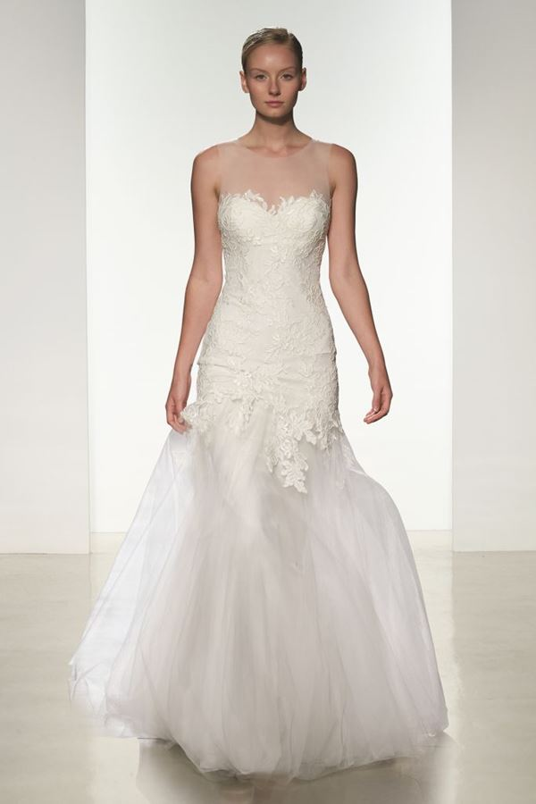 Свадебные платья с тюлевой юбкой 2015-2016 Amsale