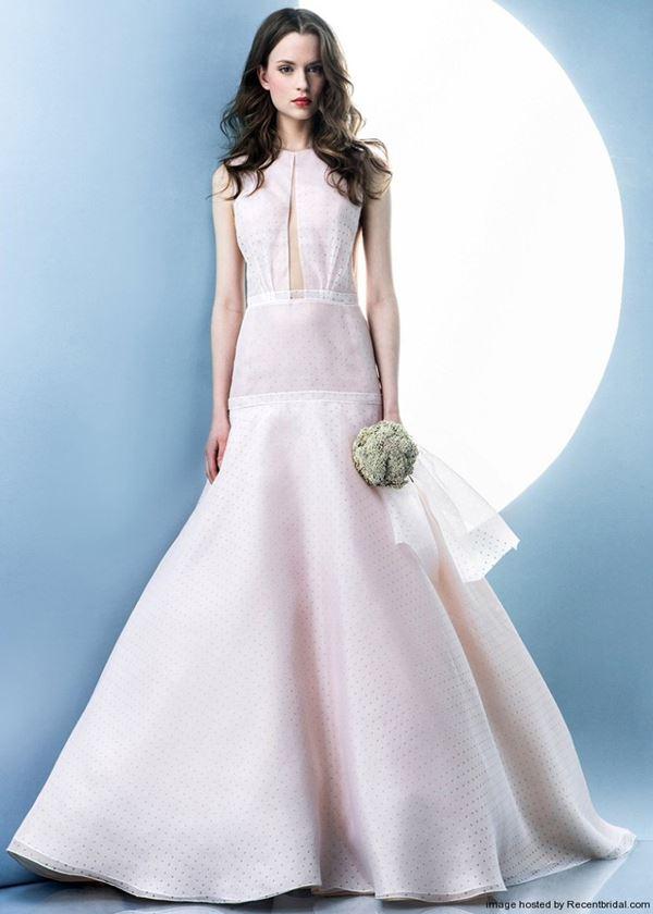 Простые и элегантные свадебные платья 2015-2016 Angel Sanchez