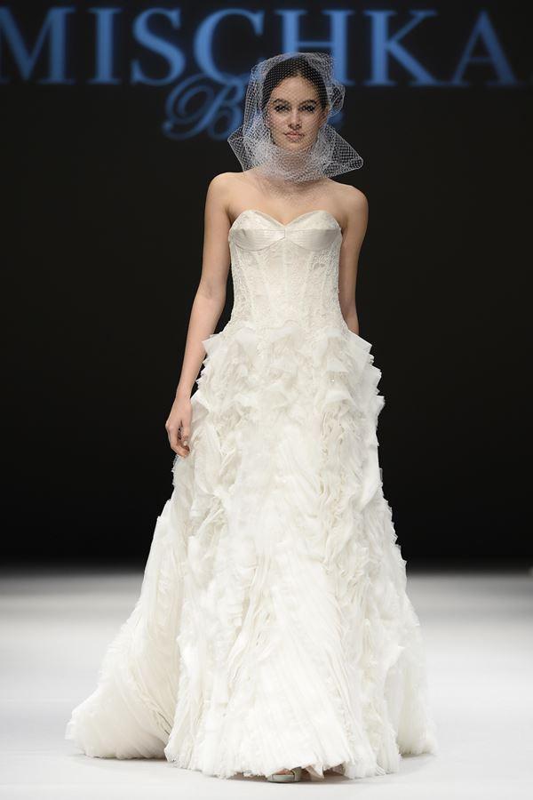 Свадебные платья с воланами 2015-2016 Badgley Mischka