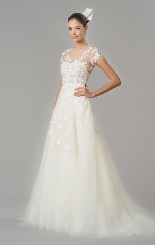 Свадебные платья с тюлевой юбкой 2015-2016 Carolina Herrera