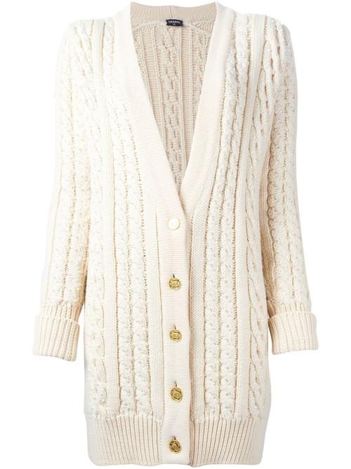 Кардиганы объемной вязки осень-зима 2015-2016 Chanel Vintage