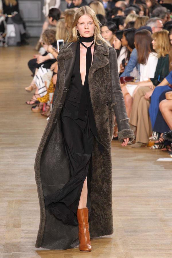 Модные дубленки осень-зима 2015-2016 Chloé
