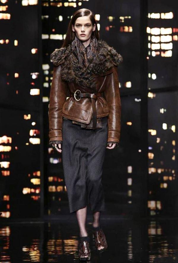 Модные дубленки осень-зима 2015-2016 Donna Karan