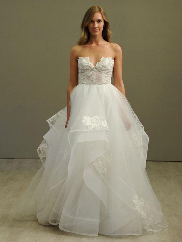 Свадебные платья с воланами 2015-2016 Hayley Paige