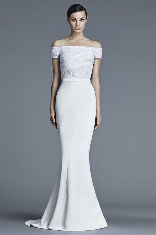 Простые и элегантные свадебные платья 2015-2016 J. Mendel