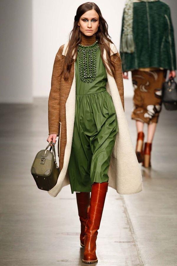 Модные дубленки осень-зима 2015-2016 Karen Walker