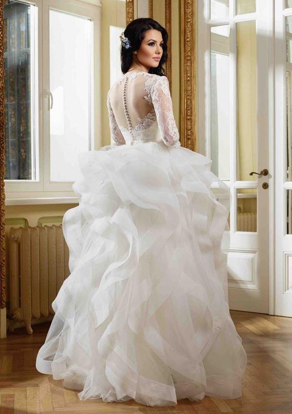 01f5d26ed3ca470 J. Mendel Свадебные платья с воланами 2015-2016 Kenneth Pool