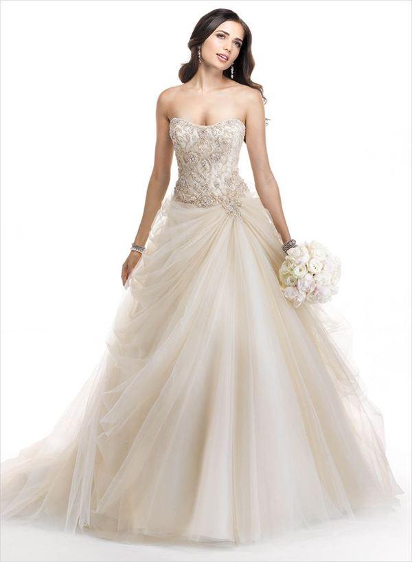 Свадебные платья с тюлевой юбкой 2015-2016 Maggie Sottero