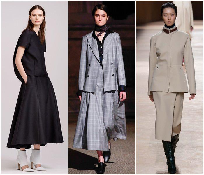 Модные костюмы с юбкой осень-зима 2015-2016  (11)