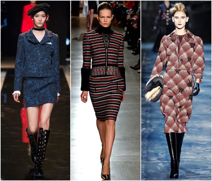 Модные костюмы с юбкой осень-зима 2015-2016  (14)