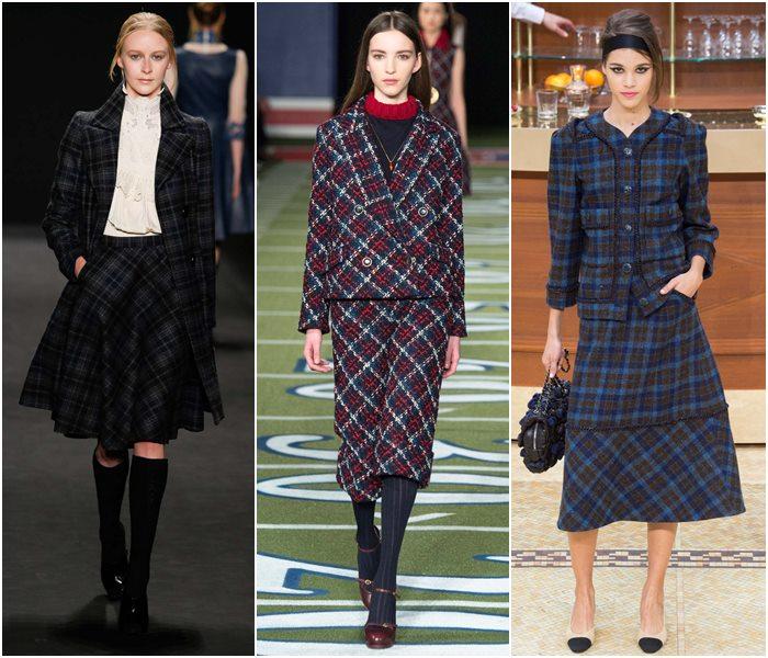 Модные костюмы с юбкой осень-зима 2015-2016  (3)