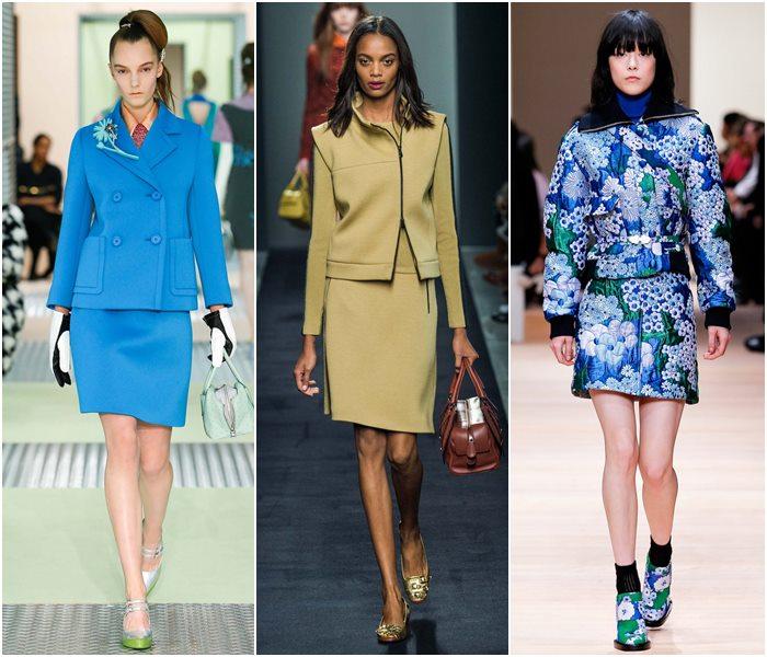 Модные костюмы с юбкой осень-зима 2015-2016  (5)