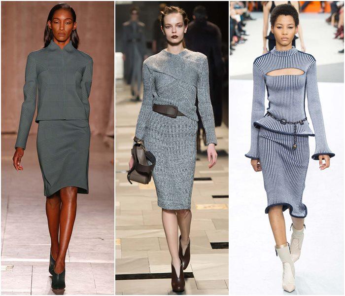 Модные костюмы с юбкой осень-зима 2015-2016  (7)