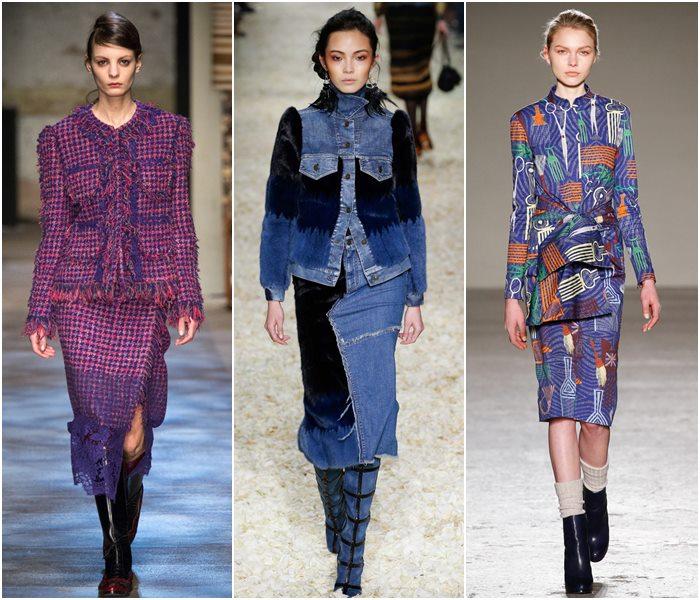 Модные костюмы с юбкой осень-зима 2015-2016  (9)
